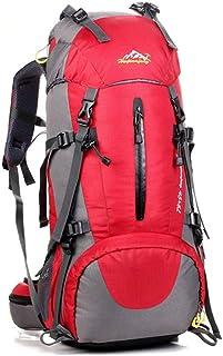 MOMIN Ligera Poco voluminoso Viaje Mochila de Senderismo 45L + 5L del Recorrido del morral Que va de excursión Trekking Escalada Montañismo Mochila morral Que acampa (Color : Red, Size : 45L)