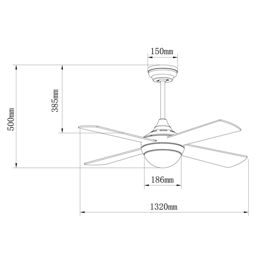 Ventilador de techo con luz TEMPO color Plata. Mando a distancia ...