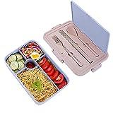 SKY TEARS Caja de Bento, Lunch Box Infantil, Fiambreras Bento con 5 Compartimentos, Cuchara Tenedor Lonchera, Ideal para Almuerzo y Bocadillos para Niños y Adultos (Azul)