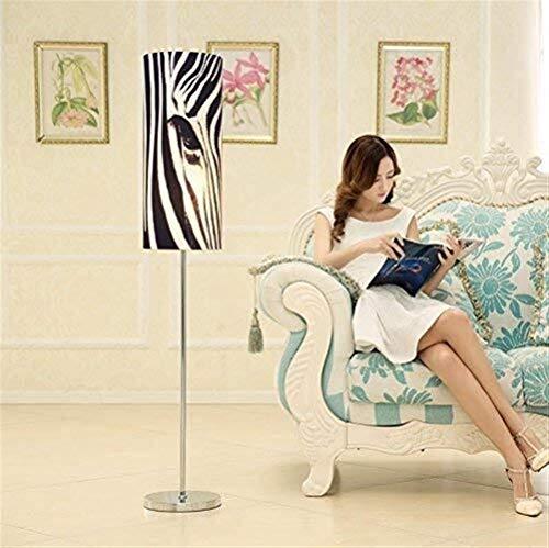 L-YINGZON Conducido Personalidad Moderna Sala de Estar Dormitorio Cama de Tela Creativo Estudio lámpara de pie, Eye-Cuidado Vertical luz del Piso Lámparas de iluminación