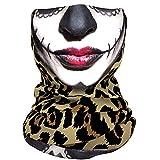 FANLI Bandana Maske Schlauch Maske Multifunktionstuch Polyester Schweißableiten Wärme Atmungsaktiv Schnell Trocknend Fahrrad Wandern -Leopardenmuster
