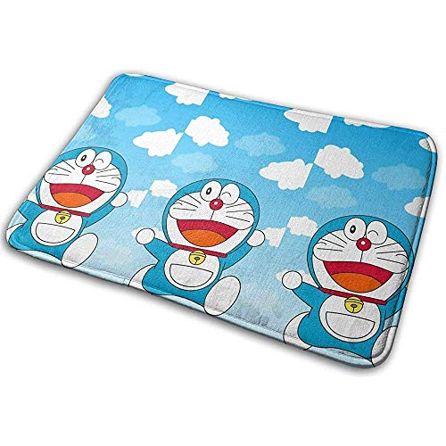 Liumt Alfombra Antideslizante Bienvenido Doraemon Blue Sky Interior Exterior Entrada Alfombra...