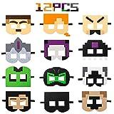 HAOORYX 12Pcs Pixel Miner Crafting Party...