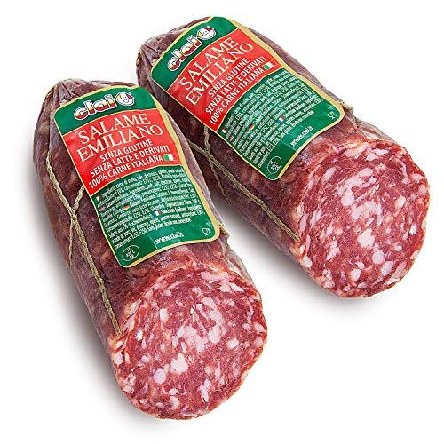 Salame Emiliano, 2 pezzi da 240 gr - Carne 100% italiana - CLAI