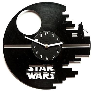 secondlifeforvinyl Star Wars 12-Inch Vinyl Wall Clock, Black