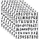 Set de 504 Piezas 8 Hojas Pegatinas Calcomanías de Números Letras de Vinilo Autoadhesivos, Pegatinas de Número de Buzón Calcomanías de Alfabeto Número para Señal, Puerta, Coche, 1 Pulgada