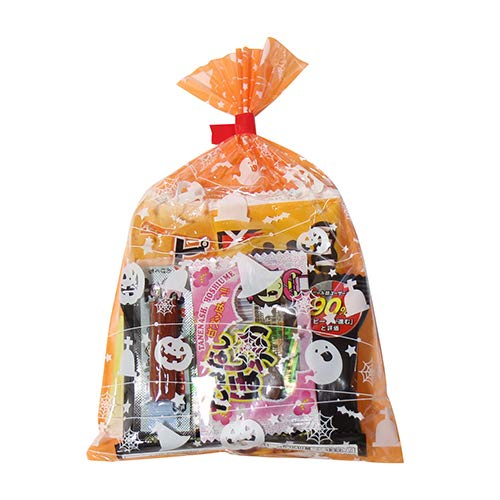 ハロウィン袋 4袋 大人おつまみスナック(Aセット)駄菓子 袋詰め おかしのマーチ