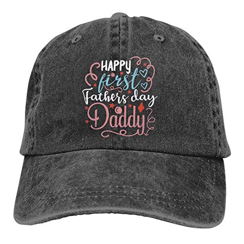 Jopath Gorra de béisbol Happy Fathers Day Daddy Travel Sports Gorra ajustable, color negro