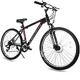 Merax 26' Aluminum 24-Speed Mountain Bike with Disc Brakes Lightweight Bicycle