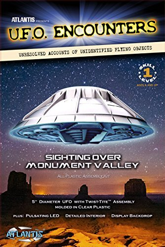 Monument Valley UFO Clear 5-Inch Model Kit with Light Atlantis