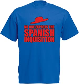No One Expects The Spanish Inquisition, Mens Printed T-Shirt - Royal Blue/Transfer 2XL