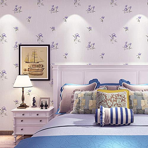 Gartenblumenvliestapete Wohnzimmer Schlafzimmer Tapete 0.53m*10m 91701