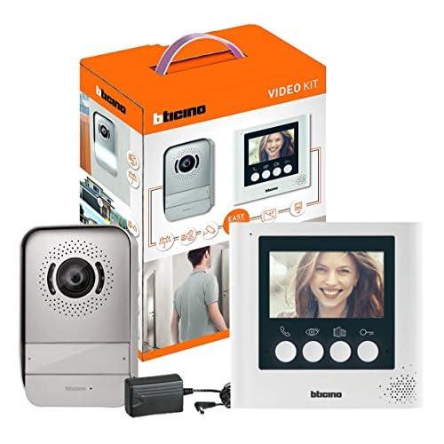 BTicino 316913 Kit Videocitofono 2 Fili, con posto esterno, monitor interno 4,3