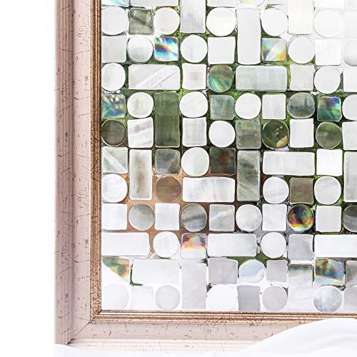 CottonColors statische 3D Fensterfolie ohne Klebstoffe Sichtschutzfolie Dekofolie keine Phthalate umweltfreundlich 3ft x 6.5 ft\(90 x 200 cm)