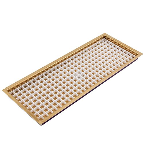 14.875 Inch Flush Mount Drip Tray - Brass - With Drain