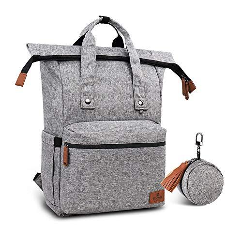 Hafmall Wickelrucksack faltbare und wasserdichte Wickeltasche mit großem Fassungsvermögen, Dekompressions- und atmungsaktiver Reiserucksack für Mama und Papa