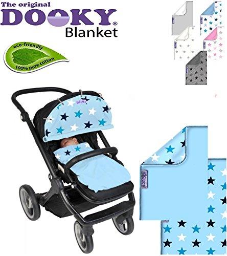 Original Dooky Blanket – Couverture Douillette multifonctions, Baby Couverture pour Siège Auto et poussette * * 100% coton respirant * * Plusieurs couleurs au choix