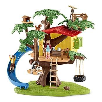 Schleich Farm World Adventure Tree House 28-piece Farm Playset for Kids Ages 3-8 5.91x6.3x7.09inch