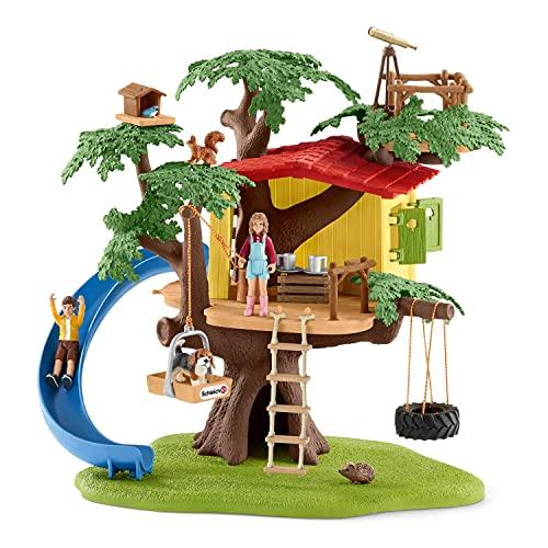 Schleich 42408 Farm World Spielset - Abenteuer Baumhaus, Spielzeug ab 3 Jahren,40 x 34, 5 x 10, 5 cm