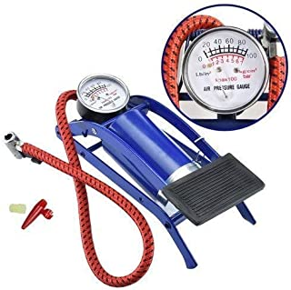 FINIVIVA Imported Portable High Pressure Foot Air Pump Heavy Compressor Cylinder for Bike, Car, Cycles & All Other Vehicles