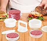 Hamburger Press Patty Maker Freezer Containers - All In One Convenient Package - 10 Pieces Set Hamburger Patty Mold - Essential Tool to Make hamburger Patties – Great gift