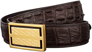 Mens Belts, Genuine Leather Crocodile Pattern Dress Belt, Classic Waistband with 304 Stainless Steel Plaque Buckle, for Wo...