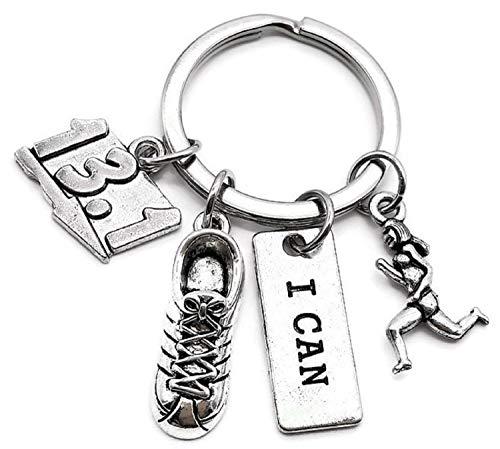13.1 Marathon Keychain, Running Keychain, Running Shoes Keychain, I Can Keychain, Marathon Keychain, 13.1 Keychain, Runner Keychain, Marathon Gift, 13.1 Half Marathon Key Chain, 13.1 Marathon Key Ring