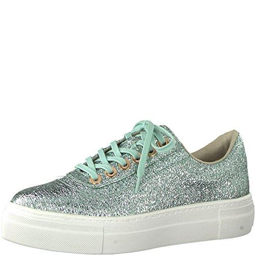 Tamaris Damen Sneaker Mint von Größe 37 bis 41 mit Touch-It Fußbett, Damen Größen:38, Farben:Grün