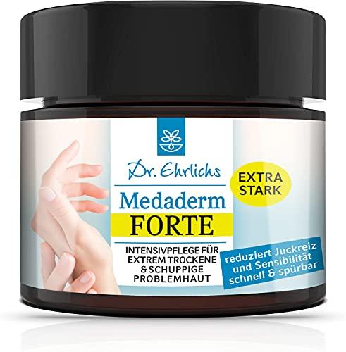 Dr. Ehrlichs Medaderm Forte 100 ml - Intensiv Pflege Salbe, Neurodermitis Creme bei extrem trockener Haut, Ekzemen und Schuppenflechte - extra stark