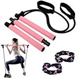 Pilates Stick Bar for Women & Men, All-in-one Training Equipment Pilates kit for Home Gym Workout...