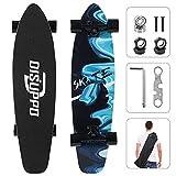 DISUPPO Cruiser Skateboard, Skateboard Completo per Principianti, 7 Strati Acero Doppio Calcio concavo Standard e Tricks per Adolescenti e Adulti (Increspature da sogno)