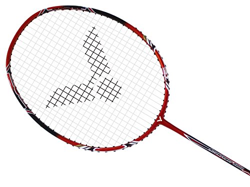 VICTOR Arrow Power 8000 G5 Strung Badminton Racket String Tension Upto 30lbs (Red/Black)