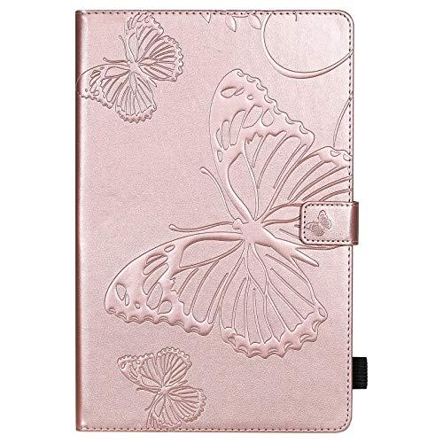 weichunya Flor de Mariposa Floral Patrón de PU de Cuero de la Cartera de la Tableta de la Tableta para la Cubierta de la Galaxia S6 Lite SM- P610 P615 10,4 Pulgadas 2020 (Color : Rose Gold)