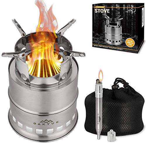 OAKVUE Portable Camping Stove – Stainless Steel Camping Cookware –...