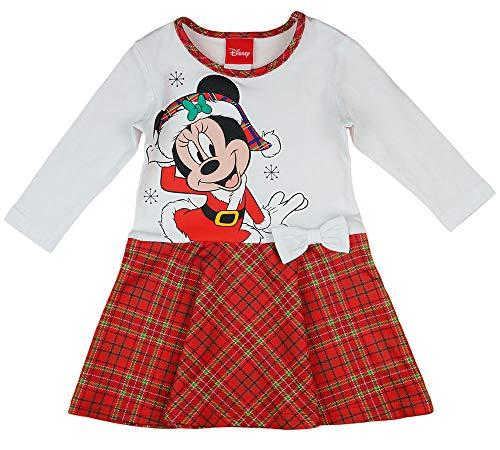 Disney Baby Mädchen Lang-arm Freizeit-Kleid mit schönem Rock mit Minnie Mouse, Modell 4, Gr.- 116