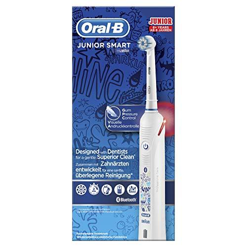 Oral-B Junior Smart Elektrische Zahnbürste mit visueller Andruckkontrolle & Smart Coaching, für Kinder ab 6 Jahren