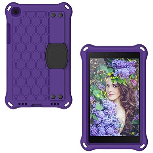 GHC PAD Cases & Covers For Samsung Galaxy Tab A 8.0 2019, Kids Shockproof Silicon PC Case for Samsung Tab A 8.0 T290 SM-T290 T295 T297 (Color : Purple)