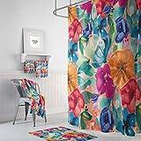 Ninguna marca de inspiración vintage gitana floral cortina de ducha decoración de baño