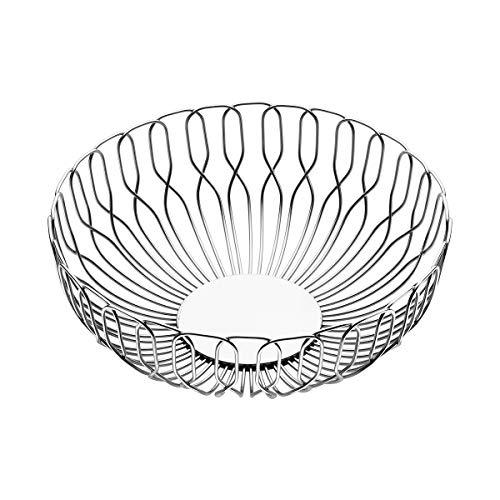 George Jensen Alfredo Bread Basket, Stainless Steel, Silver