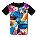 maichengxuan Magliette Manica Corta, T-Shirt Short Sleeve Kids Tee Shirt Mega-Man X Legacy Collection 1 Sport Tshirt for Girls&Boys