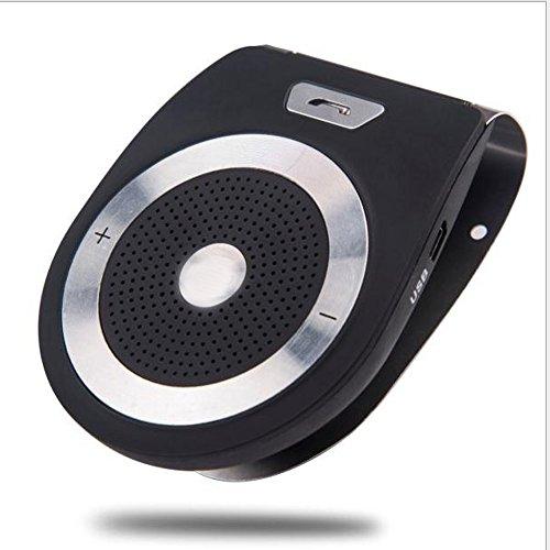 PolarLander Car Bluetooth Kit Mains Libres Haut-Parleur Support de Téléphone Bluetooth 4.1 EDR sans Fil Voiture Kit Mini Visière Peut Mains Libres Appels