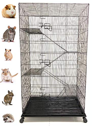 55' Extra Large 5 Levels 3/8-Inch Tight Wire Spacing Guinea Pig Sugar Glider Animal Wire Cage