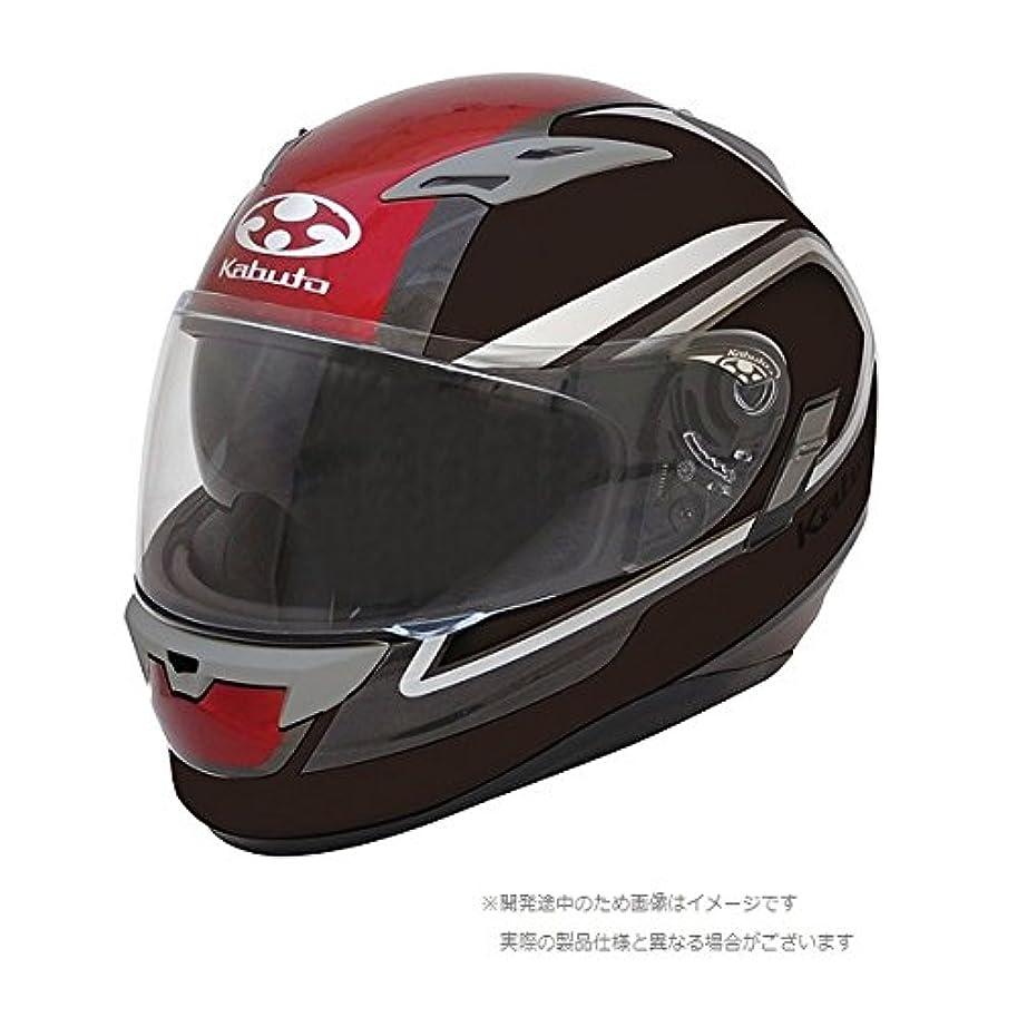 鋼プーノまたオージーケーカブト(OGK KABUTO)バイクヘルメット フルフェイス KAMUI2 CLEGANT (クレガント) フラットブラックレッド (サイズ:L)