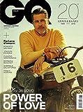 GQ ITALIA Magazine (Ottobre, 2019) BRAD PITT Cover, 20th ANNIVERSARY, POWER OF LOVE PASSIONI DA UOMO, Parlano D Amore, Roberto Saviano, Joaquin Phonix, Claudio Santamaria