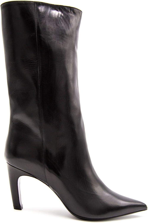 ALDO Castagna Damen 118GIUSY6schwarz Schwarz Leder Stiefel    0335d8