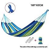 Iswell 190 * 100 mm 2 personas hamaca rayada cama de ocio al aire libre cama de lona gruesa cama colgante hamaca columpio 2 colores