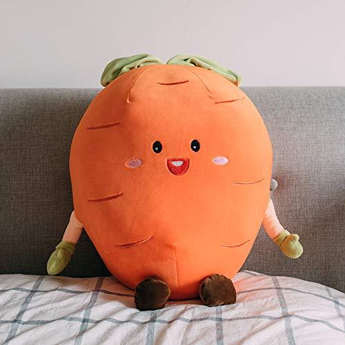 Linda Almohada de Zanahoria sandía Seta de Fresa muñeca de Felpa Creativa Almohada Vegetal muñeca Regalo de niño Zanahoria 50 cm más o Menos