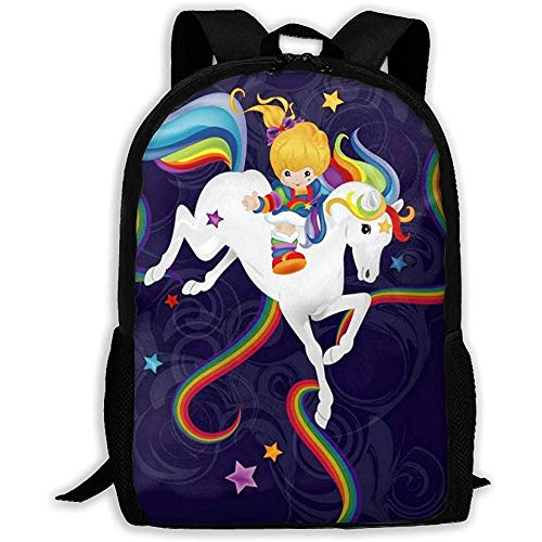 Oxford Rainbow Brite Backpack / School Bag - Comfortable And Adjustable Padded Design
