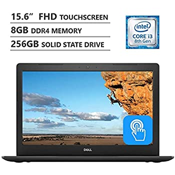 """Dell Inspiron 5000 15.6"""" Full HD Touchscreen Laptop, Intel Core i3-8130U up to 3.40GHz, 8GB Memory, 256GB Solid State Drive, Wireless-AC, Windows 10, Black"""