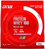 DNS ホエイプロテイン ホエイ100 いちごミルク風味 1050g 約30回分 水で飲める プロテイン WPC ホエイたんぱく質 筋トレ 1 袋